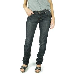Hudson Carly Flap Straight Jeans Emer Size 26